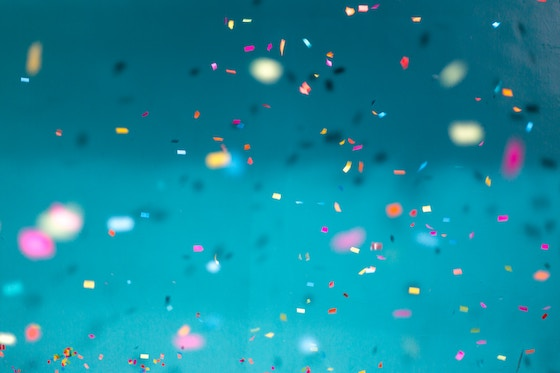 Photo of confetti.