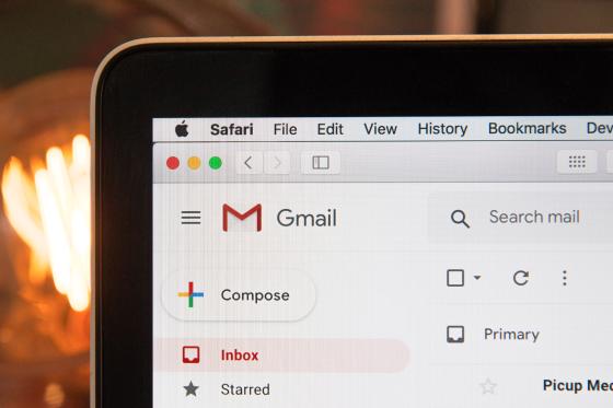 An email inbox.