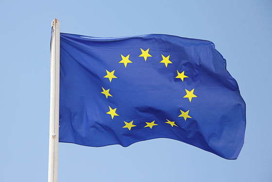 EU flag flying representing GDPR