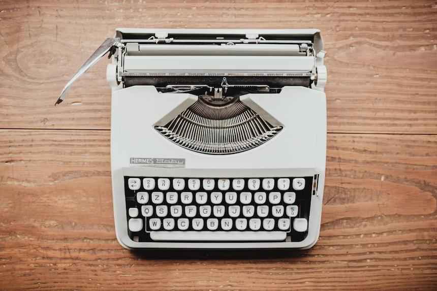 Photo of vintage typewriter