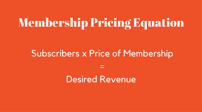 Membership pricing notepad beside laptop