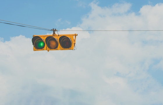 traffic light on green.